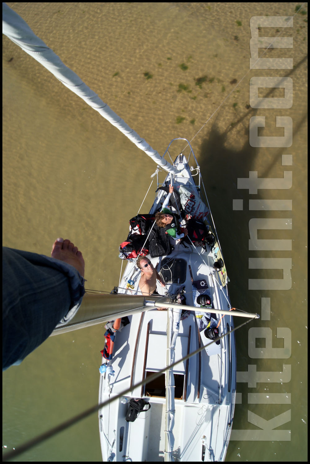 haut du mât kite unit boat trip